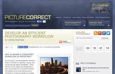 http://www.picturecorrect.com/tips/develop-an-efficient-photography-workflow/