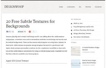 http://designwoop.com/2012/03/20-free-subtle-textures-for-backgrounds/