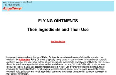 http://www.angelfire.com/electronic/awakening101/flying_ointments.html