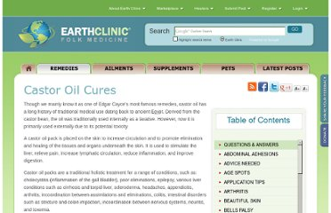 http://www.earthclinic.com/Remedies/castor_oil.html