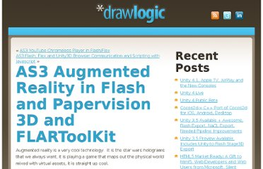 http://drawlogic.com/2008/11/17/as3-augmented-reality-in-flash-and-papervision-3d-flartoolkit/