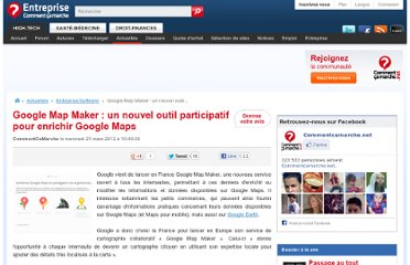 http://www.commentcamarche.net/news/5858653-google-map-maker-un-nouvel-outil-participatif-pour-enrichir-google-maps