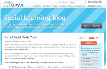 http://interactyx.com/social-learning-blog/list-of-social-media-tools/