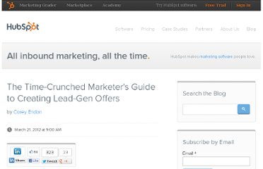 http://blog.hubspot.com/blog/tabid/6307/bid/31952/The-Time-Crunched-Marketer-s-Guide-to-Creating-Lead-Gen-Offers.aspx