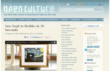 http://www.openculture.com/2012/03/van_gogh_to_rothko_in_30_seconds.html