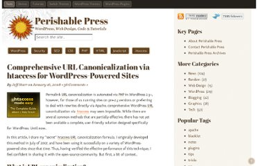 http://perishablepress.com/comprehensive-htaccess-canonicalization-for-wordpress/