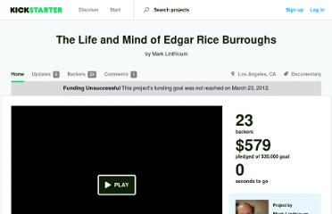 http://www.kickstarter.com/projects/1410741461/the-life-and-mind-of-edgar-rice-burroughs