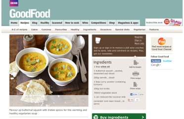 http://www.bbcgoodfood.com/recipes/1974663/curried-squash-lentil-and-coconut-soup