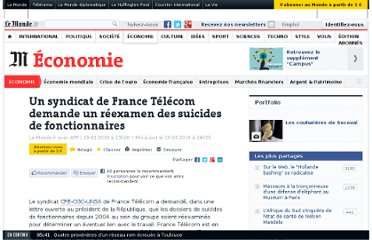 http://www.lemonde.fr/economie/article/2010/03/19/un-syndicat-de-france-telecom-demande-un-reexamen-des-suicides-de-fonctionnaires_1321700_3234.html