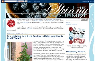 http://skinnygourmet.blogspot.com/2008/05/ten-mistakes-new-herb-gardeners-make.html