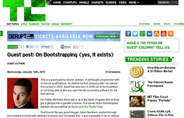 http://techcrunch.com/2011/01/12/guest-post-on-bootstrapping-yes-it-exists/