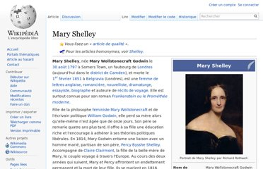 http://fr.wikipedia.org/wiki/Mary_Shelley