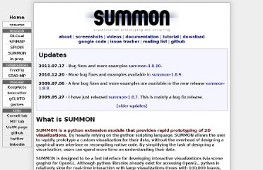 http://people.csail.mit.edu/rasmus/summon/index.shtml#screenshots