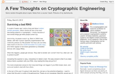 http://blog.cryptographyengineering.com/2012/03/surviving-bad-rng.html
