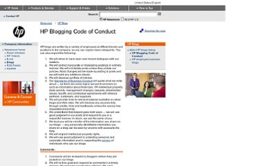 http://www.hp.com/hpinfo/blogs/codeofconduct.html