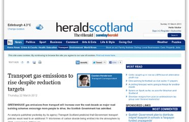 http://www.heraldscotland.com/news/transport/transport-gas-emissions-to-rise-despite-reduction-targets.17099257