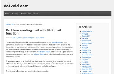http://www.dotvoid.com/2007/04/problem-sending-mail-with-php-mail-function/