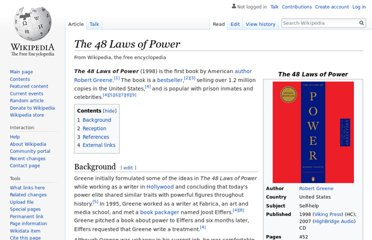 https://en.wikipedia.org/wiki/The_48_Laws_of_Power