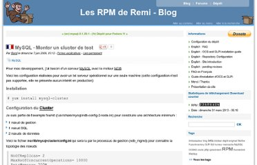 http://blog.famillecollet.com/post/2009/06/07/MySQL-Monter-un-cluster-de-test