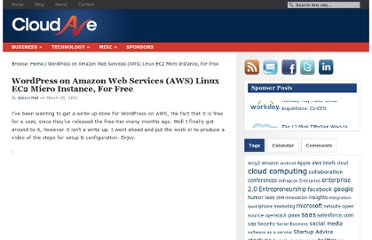 http://www.cloudave.com/11067/wordpress-on-amazon-web-services-aws-linux-ec2-micro-instance-for-free/