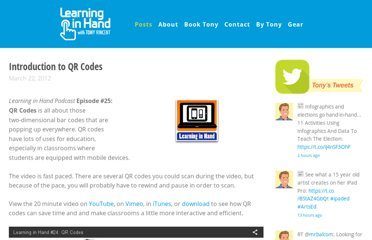 http://learninginhand.com/blog/learning-in-hand-25-qr-codes.html