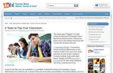 http://www.goedonline.com/5-tools-to-flip-your-classroom