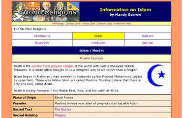 http://www.woodlands-junior.kent.sch.uk/Homework/religion/Islam.htm