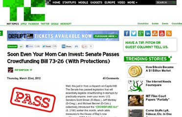 http://techcrunch.com/2012/03/22/senate-passes-crowdfunding/