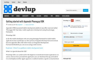 http://devlup.com/mobile/getting-started-with-appmobi-phonegap-xdk/2816/