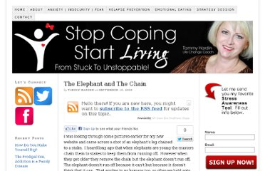 http://emotionalandaddictionrecovery.com/the-elephant-and-the-chain