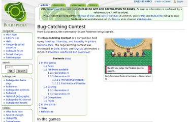http://bulbapedia.bulbagarden.net/wiki/Bug-Catching_Contest#Generation_IV