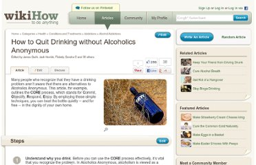 http://www.wikihow.com/Quit-Drinking-without-Alcoholics-Anonymous