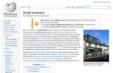 http://en.wikipedia.org/wiki/Small_business