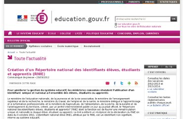 http://www.education.gouv.fr/cid59722/creation-d-un-repertoire-national-des-identifiants-eleves-etudiants-et-apprentis-rnie.html