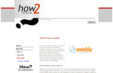 http://www.howto101.co.uk/how-to-create-a-website.html