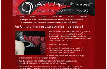 http://www.unholyharvest.ca/2011-new/11-index.html
