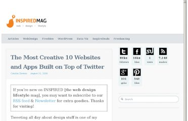 http://inspiredm.com/the-most-creative-10-websites-and-apps-built-on-top-of-twitter/