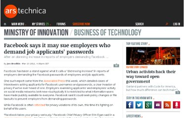 http://arstechnica.com/business/news/2012/03/facebook-says-it-may-sue-employers-who-demand-job-applicants-passwords.ars