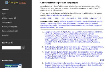 http://www.omniglot.com/writing/conscripts.htm#english