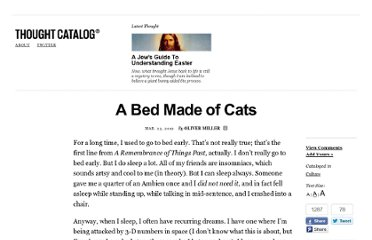 http://thoughtcatalog.com/2012/a-bed-made-of-cats/