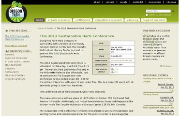 http://tilth.org/events/the-2012-sustainable-herb-conference