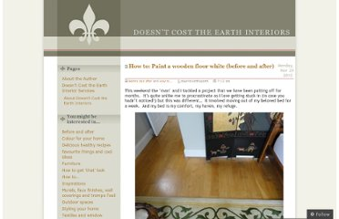 http://doesntcosttheearth.wordpress.com/2010/11/29/how-to-paint-a-wooden-floor-before-and-after/