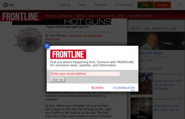 http://www.pbs.org/wgbh/pages/frontline/shows/guns/procon/guns.html