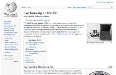 http://en.wikipedia.org/wiki/Eye_tracking_on_the_ISS
