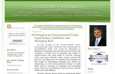 http://lawandenvironment.typepad.com/law_and_the_environment/2007/02/managing_an_env.html