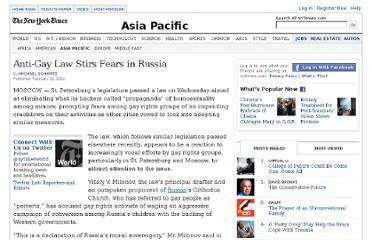 http://www.nytimes.com/2012/03/01/world/asia/anti-gay-law-stirs-fears-in-russia.html