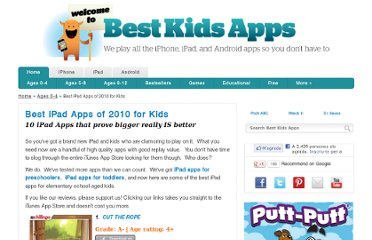 http://www.bestkidsapps.com/ages-0-4/best-ipad-apps-of-2010-for-kids/