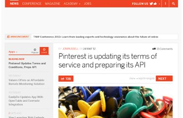 http://thenextweb.com/apps/2012/03/24/pinterest-is-updating-its-terms-of-service-and-preparing-to-release-its-api/
