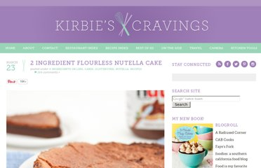 http://kirbiecravings.com/2012/03/2-ingredient-flourless-nutella-cake.html