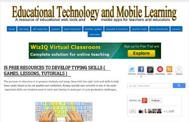 http://www.educatorstechnology.com/2012/03/16-free-resources-to-develop-typing.html